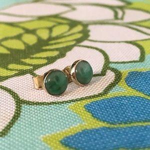 Vintage Gold/Jade Earrings
